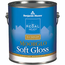 w096 01 gallon white moorglo soft gloss exterior paint