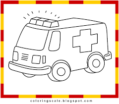 coloring pages printable for kids ambulance coloring pages for kids