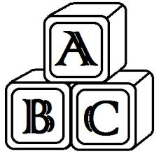 block letter d clipart black and white