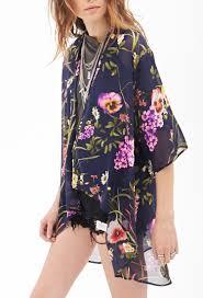 chiffon dresses forever 21 floral kimono