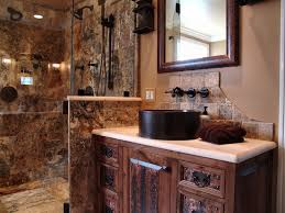rustic 3 4 bathroom with limestone tile by buraski builders