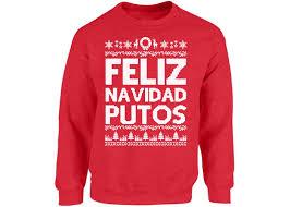 Ugly Christmas Sweater Party Poem - feliz navidad putos sweatshirt ugly christmas sweater for men