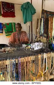 rosary shop muslim rosary shop ziguinchor casamance senegal stock photo