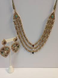 gold har set exquisite kundan 3 lari har set indian kundan islamic and gold