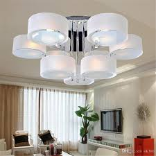 light for living room ceiling modern acrylic glass led ceiling light 3 5 7 head lamp fashion