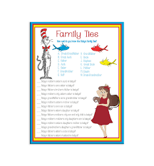 printable baby shower game family ties baby shower themes