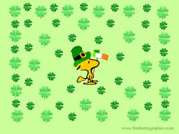 peanuts s day st s day wallpaper and backgrounds woodstockstpatswall2