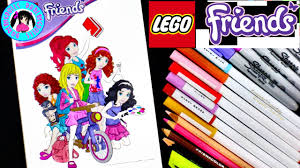 lego friends 1 coloring mia emma andrea stephanie u0026 olivia by