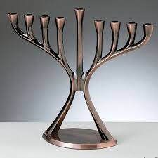 modern menorah copper finish modern hanukkah menorah