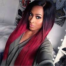 28 u0027 u0027 long ombre red hair wigs for black women natural female wig