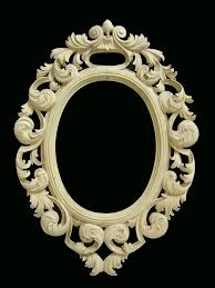 vintage wood hand carved small gilt wall mirror from second time