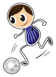 a sketch of a boy playing soccer stock images image 33692624