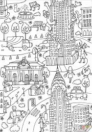 empire state building and chrysler building coloring page free