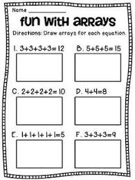 how to teach arrays lots of really fun ideas for teaching