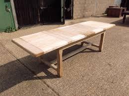 10 ft farmhouse table antique furniture warehouse antique bleached oak refectory table