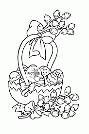 holiday coloring pages printable free beautiful easter basket eggs coloring page for kids holiday