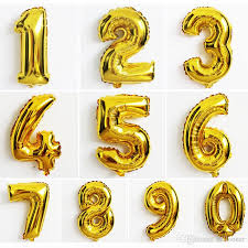 number balloons delivered 16inch gold number balloons aluminum foil helium balloons birthday