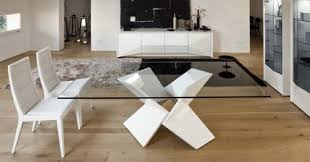 Designer Glass Dining Tables Contemporary Glass Dining Table Ispcenter Us