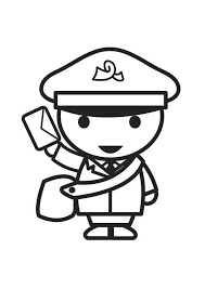 mailman hat coloring page mailman coloring page google search valentine pinterest hand