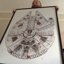 Millennium Falcon Floor Plan by Millennium Falcon Limited Edition Print Pirate Ship Cherry