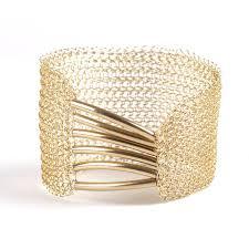 cuff bracelet with gold images A symmetric gold cuff bracelet gold mesh bracelet yooladesign jpg