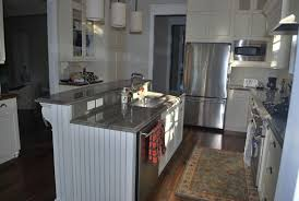 kitchen islands with bar white kitchen with raised glass breakfast bar and slate floor