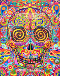 day of the dead a gallery of colorful skull celebrating dia