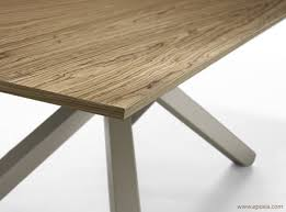 Table Bois Rallonges Integrees by Table Design En Bois Pechino Epoxia Mobilier