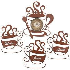 Coffee Wall Decor For Kitchen Metal Coffee Cup Wall Decor Shenra Com