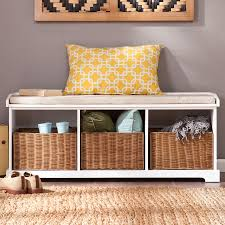 shop boston loft furnishings talor white storage bench at lowes com