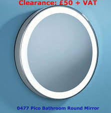 Illuminated Bathroom Mirrors With Shaver Socket Pico Circular Mirror For Bathroom Illuminated Chrome Mirror With