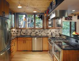 kitchen lighting design ideas interior magnificent wall mounted light brown cherry wood cabinet