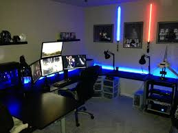 furniture contemporary dark gaming station computer desk design