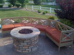 How To Make A Curved Bench Seat Firepit Bench Crafts Home