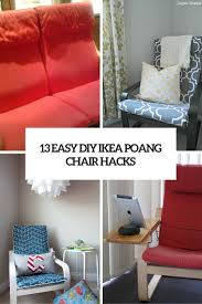 easy chair covers 13 easy and fast diy ikea poang chair hacks shelterness