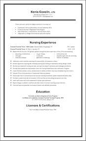 Best Nursing Resume Examples by Marvelous Design Ideas Lpn Resume Examples 5 15 Awesome Licensed