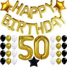 printable birthday decorations free amazon com 50th birthday party decorations kit happy birthday
