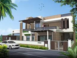 contemporary house designs sqfeet 4 bedroom villa design unique