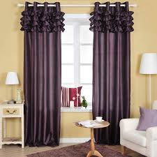 White And Purple Curtains Purple Curtains For Bay Windows With Modern Interior Design Using