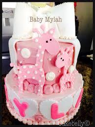 pink giraffe baby shower cake cakes pinterest giraffe baby