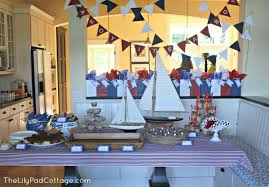 sailor baby shower decorations ahoy it s a boy baby shower the lilypad cottage