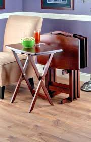 target tv snack tables tv snack tables tray table set wood stand end folding furniture
