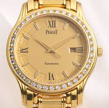 piaget automatic piaget polo 24005 m 501 d factory diamond bezel 18k yellow gold ebay