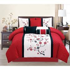 Asian Bedding Set Asian Bedding Sets Embroidery 7 Comforter