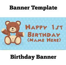 birthday banner teddy boy banner printing ni