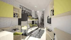 attic bedroom ideas black wooden nightstand blue striped blanket