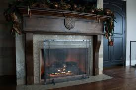 rustic fireplace screens fireplace ideas