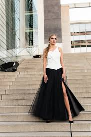 White Tulle Maxi Skirt Maxi Tulle Skirt With Pockets And Slit Tulle Skirt Black