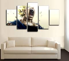 Home Decor Ebay Z Saiyan 5 Canvas Framed Print Wall
