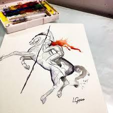 st george são jorge u2022 sketch tattoo tatuagem watercolor